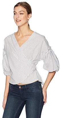 5679fbc46c6c0 Max Studio Women s Wrap Cotton Shirting