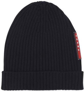 Prada Wool Rib Knit Beanie