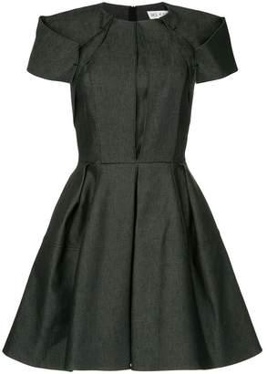 Dice Kayek structured denim mini dress