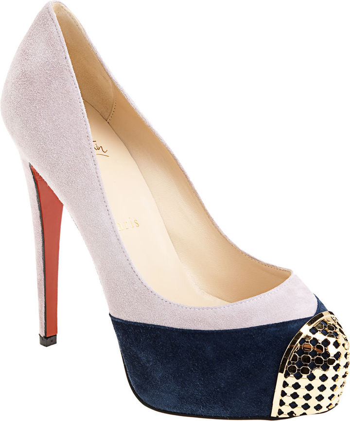 Christian Louboutin Maggie - Lilac/Navy