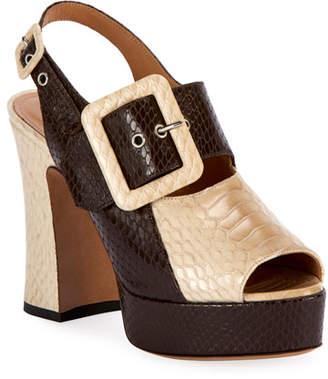 Dries Van Noten Two-Tone Platform Sandals