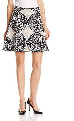 BCBGMAXAZRIA Women's Peyton Fit and Flare Skirt