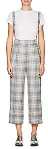 Thom Browne WOMEN'S PLAID WOOL-BLEND SUSPENDER TROUSERS-GRAY SIZE 46 IT