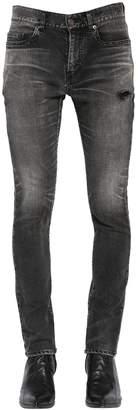 Saint Laurent 15cm Skinny Cotton Denim Jeans