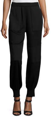 Misook Contrast Panel Stretch Jogger Pants, Petite