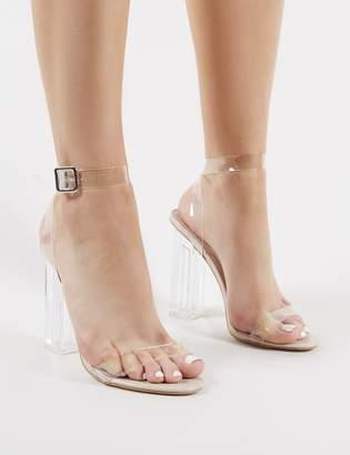 e4e086b29f5b Public Desire Alia Strappy Perspex High Heels in Clear
