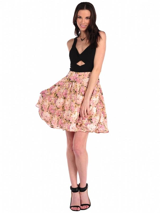 Pink Mascara Banded Piper Dress