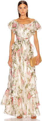 Alice McCall Salvatore Gown in Floral Gold | FWRD
