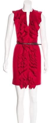 Fendi Sleeveless Wool Knit Dress
