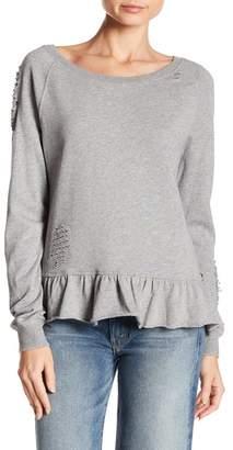 PAM AND GELA Ruffle Sweatshirt