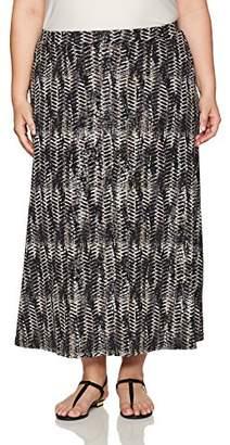 Kasper Women's Plus Size Printed Ity Maxi Skirt