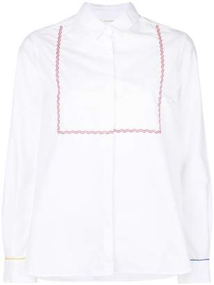 Parker Chinti & embroidered long-sleeve shirt