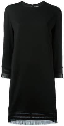 DKNY fringed shift dress
