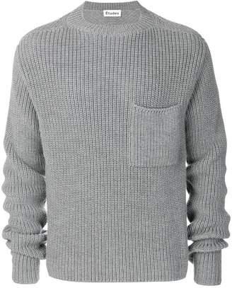 Études chunky ribbed sweater