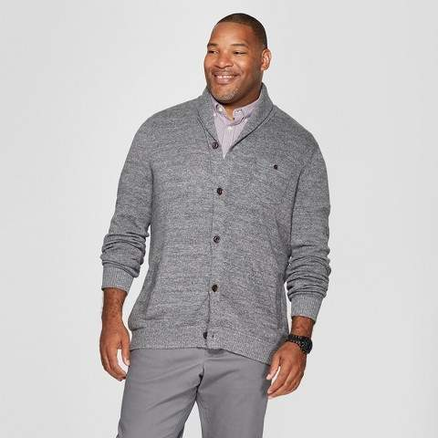Goodfellow & Co Men's Big & Tall Mid Weight Shawl Button-Up Cardigan
