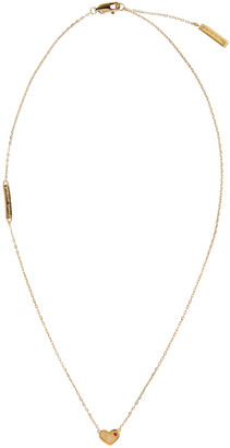 Marc Jacobs Gold Heart Something Special Necklace $95 thestylecure.com