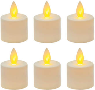 Mikasa Reflections Set of 6 LED Tealights with Realistic Flame