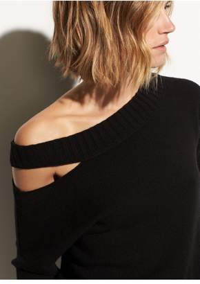 Vince Off Shoulder Slit Pullover