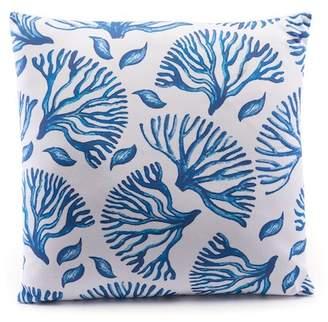 """ZUO Modern Blue/White Coral Pillow - 12\""""x20\"""""""