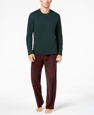 Club Room Men Fleece Pajama Set