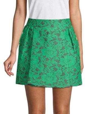 Valentino Floral Mini A-Line Skirt