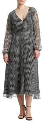 Marina Rinaldi Marina Rinaldi, Plus Size Houndstooth Check Midi Dress
