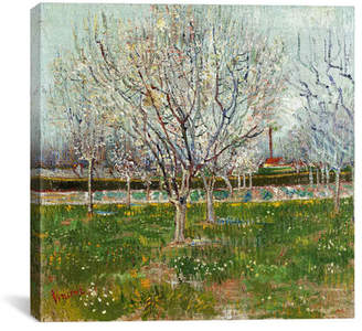 iCanvas Orchard in Blossom (Plum Trees) by Vincent van Gogh Painting Print on Canvas