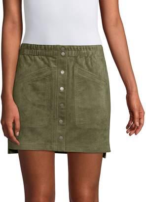 BCBGMAXAZRIA Snap-Button Mini Skirt