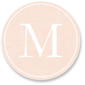 Classic Monogram Custom Stickers