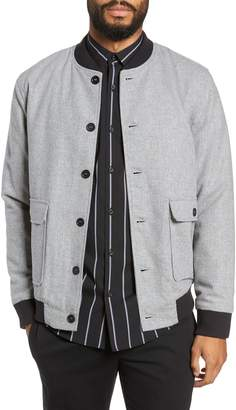 Calibrate Button Front Bomber Jacket