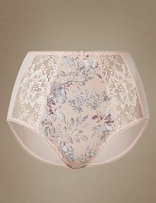 Marks and Spencer Jacquard & Lace Full Briefs