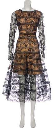 Oscar de la Renta 2015 Lace Midi Dress