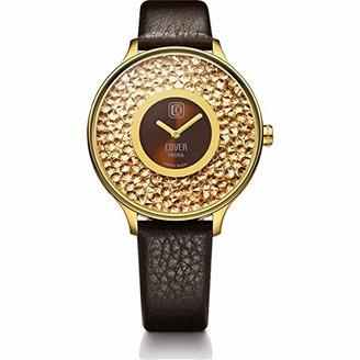 Cover コヴァー TREND PIEDRA CO158.06 ゴールド&ブラウン 女性用腕時計【正規輸入品】