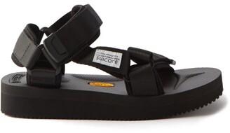Suicoke Depa V2 Velcro Strap Sandals - Womens - Black