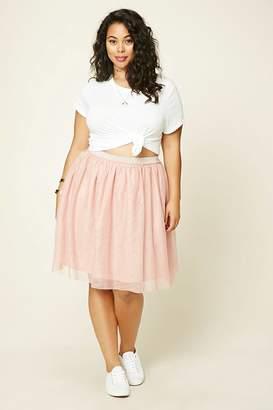 Forever 21 Plus Size Metallic-Flecked Skirt