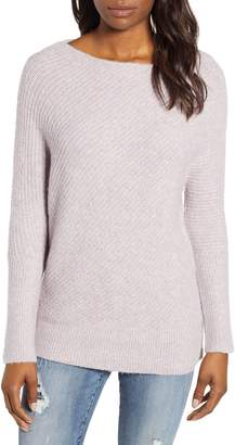Caslon Asymmetrical Rib Knit Sweater