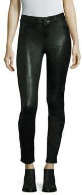 Paige Hoxton Leather High-Rise Skinny Pants