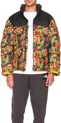The North Face Black Box 1992 Nuptse Jacket in Leopard Yellow Genesis Print | FWRD