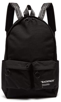 Off White Quote Backpack - Mens - Black