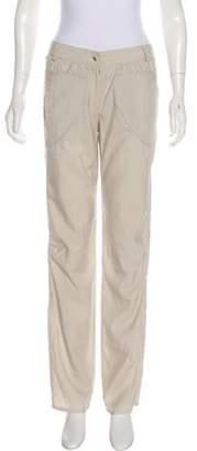 Cacharel Wool Blend Mid-Rise Pants Khaki Wool Blend Mid-Rise Pants