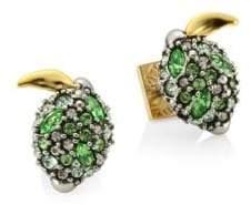 Alexis Bittar Elements Crystal Lime Stud Earrings