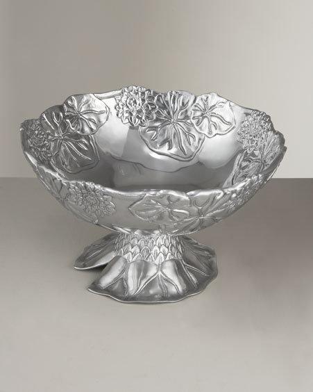 Arthur Court Lotus Pedestal Bowl