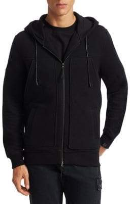 Saks Fifth Avenue x Anthony Davis Waffle Zip-Up Hoodie