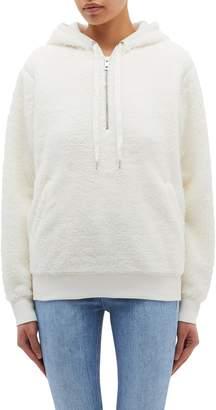 Rag & Bone 'Teddy' faux shearling oversized half-zip hoodie