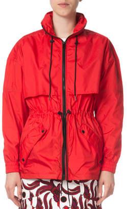 Kenzo Zip-Front Hooded Logo Wind-Resistant Jacket