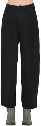 MM6 MAISON MARGIELA High Waist Wide Leg Cotton Denim Jeans