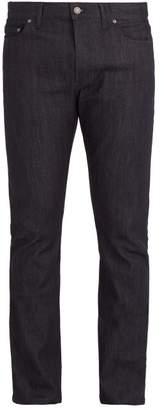Bottega Veneta - Straight Leg Cotton Blend Jeans - Mens - Dark Blue