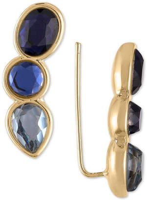 Rachel Roy Gold-Tone Crystal Climber Earrings