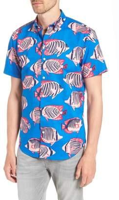Bonobos Riviera Slim Fit Fish Print Sport Shirt