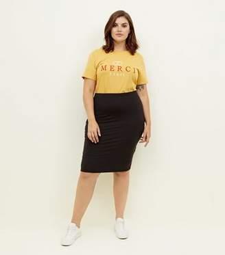 New Look Curves Black Pencil Skirt